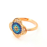 Wholesale Handcrafted Turkish 925 Sterling Silver Nano Turquoise Rose Gold Plated Zircon Handcrafted Silver Jewelry925