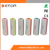 2017 New Design colorful external battery charger 2000mAh portable mobile power bank