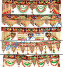 Wholesale indoor outdoor wall hanging - Indian crystal beaded toran - Diwali special handmade door hanging