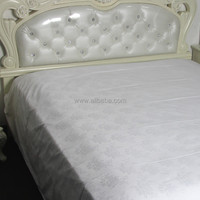 WEISDIN hot sale wholesale china high quality white plain dyed jacquard cotton child bed sheets