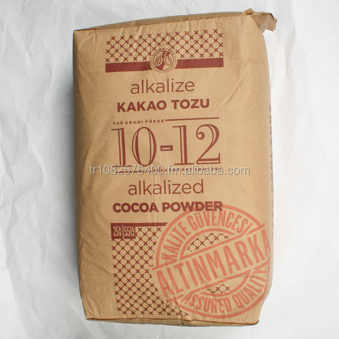 ALKALIZED COCOA POWDER in 25 KG. PACKETS