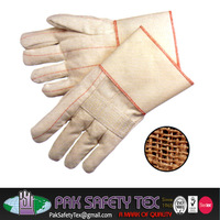 Terry Gloves/Heavy Canvas Mitten/Kitchen Mitten/Oven Gloves/Bakery Mitten/Wrist Gloves Double Palm Loop Out 26 oz