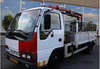 USED TRUCKS - ISUZU NPR 2.8D TIPPER WITH MOUNTED CRANE (LHD 8203)