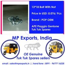 Genuine Ape Tuk tuk Spares 13*18 Bolt With Nut