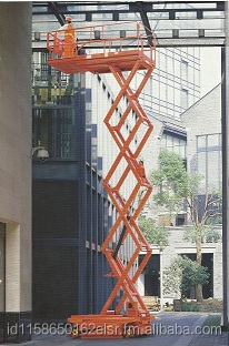 Electric Scissor Lift with Battery