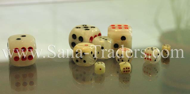 Natural Marble Onyx Designed Marble Dice, Assorted Colors , Marble Crafts ,