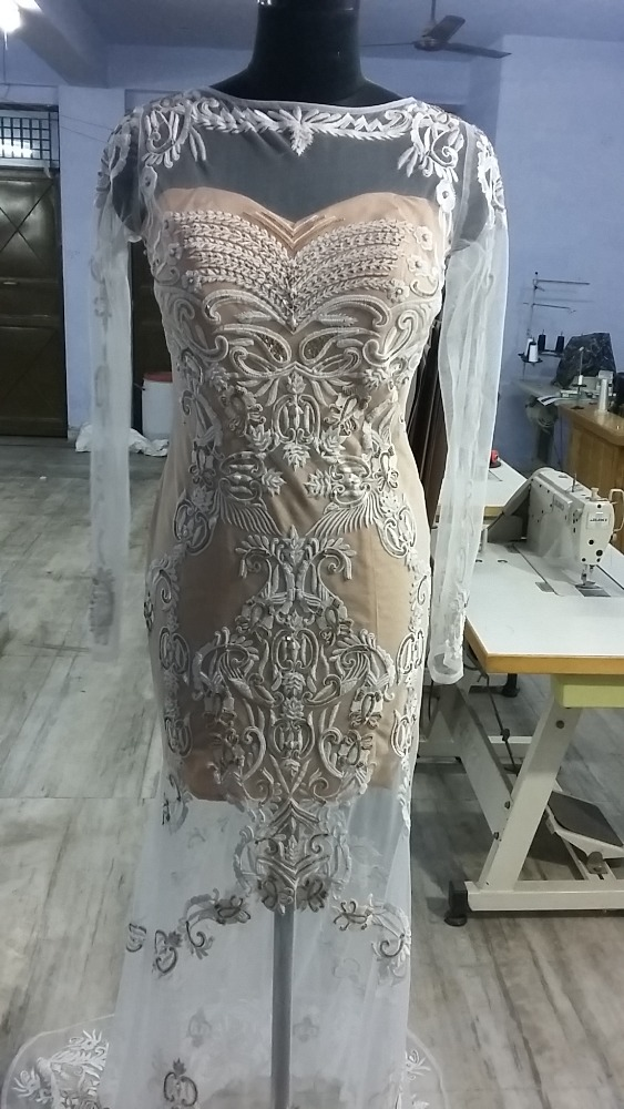 Fully beaded long Wedding gown for ladies