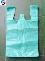 custom printed plastic hdpe t shirt bag for grocery (skype: salestnp01)