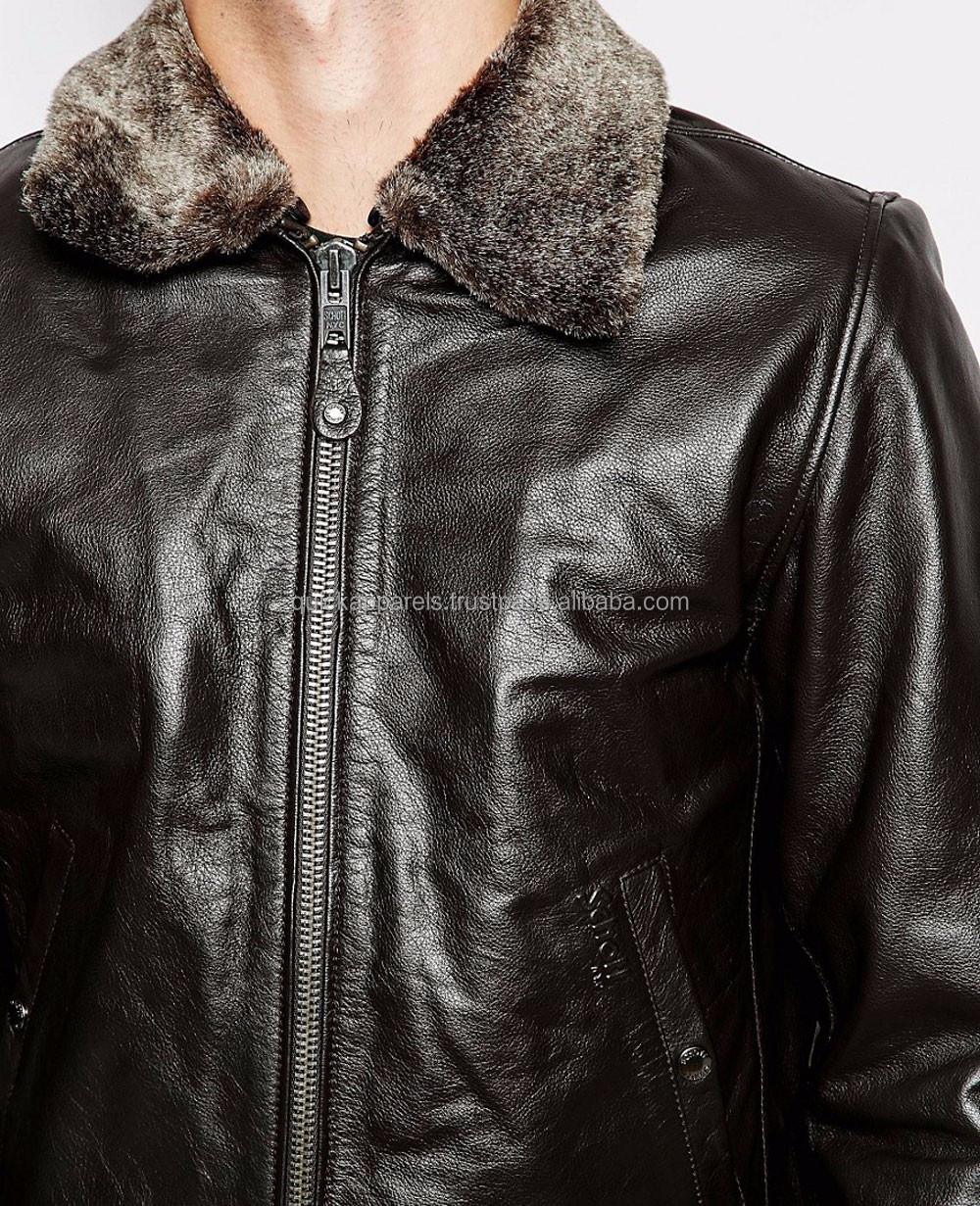 wholesale pu biker motorcycle leather pilot jacket price from china manufacturers