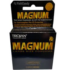 trojan condoms, trident gum, magnum condoms