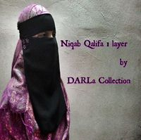 NIQAB QALIFA By DARLa Collection