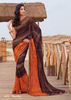 Maroon Chiffon Saree/indian saree skirts women/wholesale saree