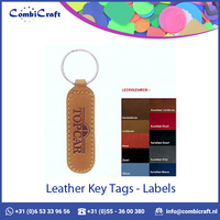 Leather Hotel Key Tags / Labels / Key Chains Available in Various Colors