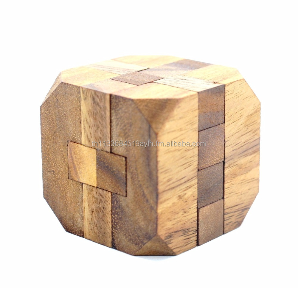 Diamond Cube,Classic Wooden Games and Toys,Interlocking Puzzles,Brain Teasers,Educational Toys,Crafted Jigsaws