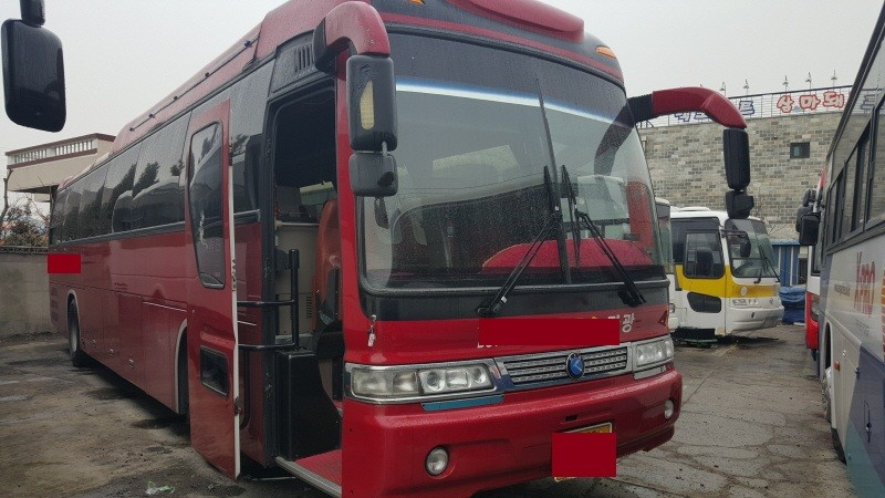 USED COACH Bus 2005Y Kia Granbird Parkway 410HP Jake Brake In Seoul Korea