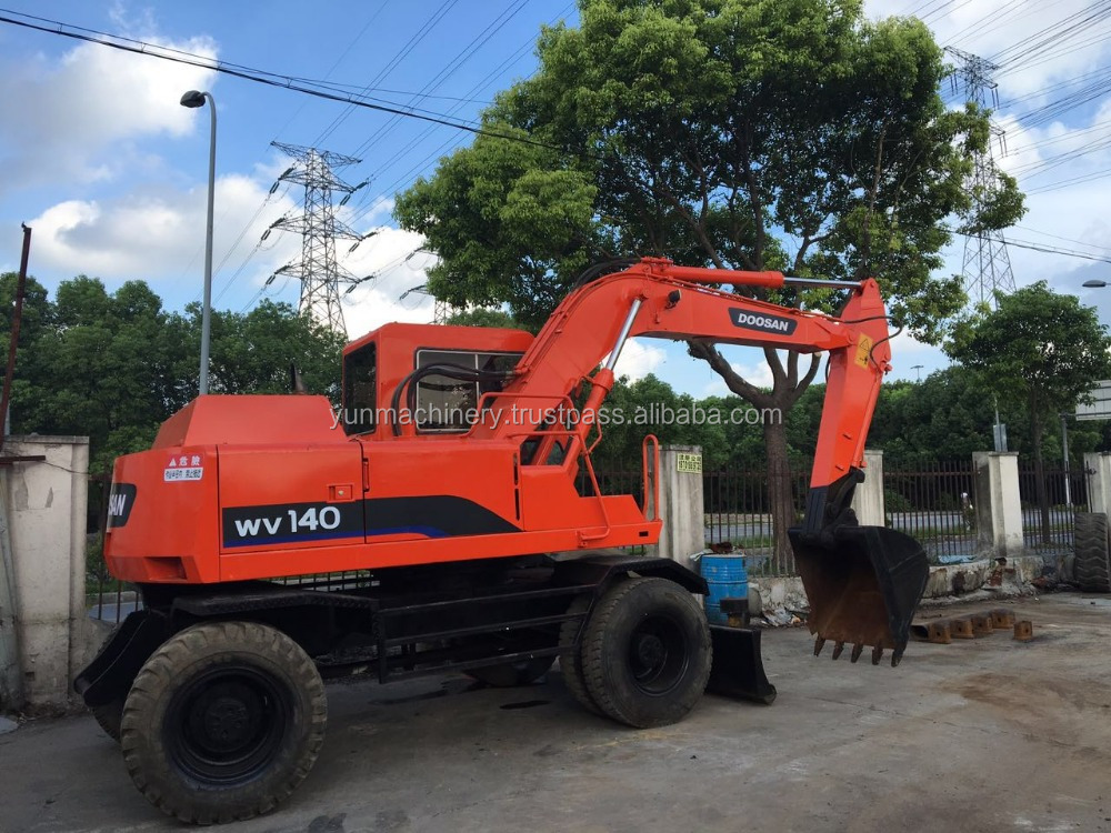 Used Doosan WV140 Wheel Excavator,Origin Korea Wheel Excavator