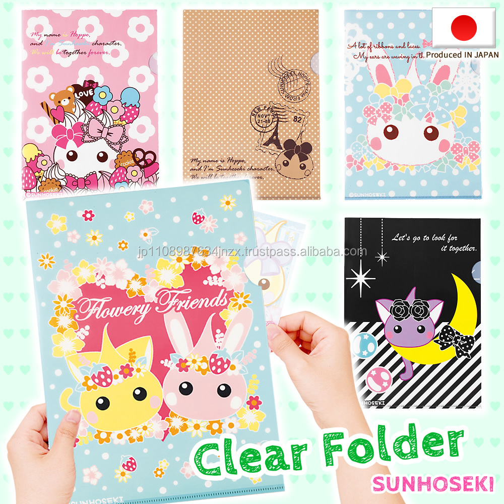 Various Hoppe-chan stationary plastic clear file folder for school use