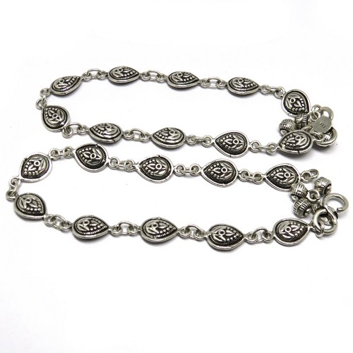 Designer !! Oxidized Plain Silver 925 Sterling Silver Women's Anklet, Sterling Silver Jewelry, Exporter And Wholesaler