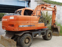 Used cheap Doosan DX140W high quality wheel excavator for hot sale