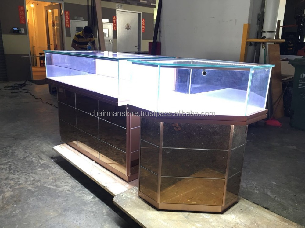 Customized display showcases exhibit racks store counter for watch