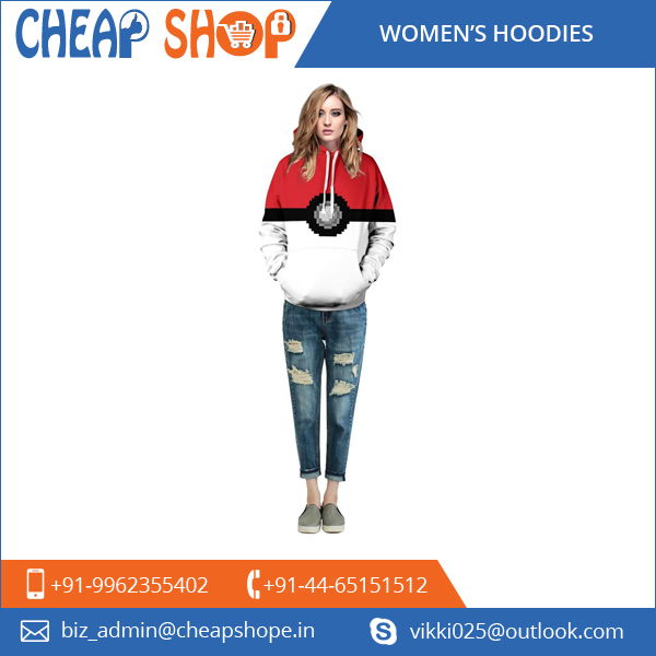 2016 Hot Selling Women's Long Sleeve Hooded Tshirt Manufacturer