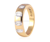 0.28 CTS NATURAL DIAMONDS DESIGNER UNISEX BAND RING IN SOLID BIS HALLMARK 14KT YELLOW GOLD AT FACTORY PRICE