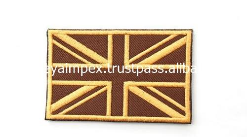 Flag Embroidery Patches Custom Patches Sew on Embroidery Patches Laser Cut Border MIEP- 786359