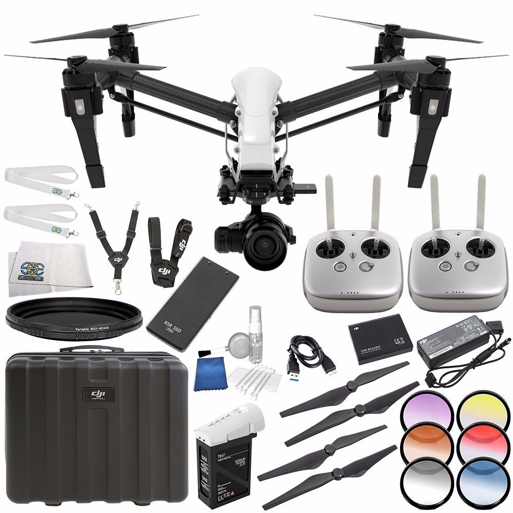 DJI CP.BX.000088 Inspire 1 Raw - Dual Remote with Zenmuse X5R Micro Four Thirds Aerial Camera Starters Bundle