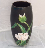 Lacquer vases for decoration- high quality lacquerware in ceramic- 100%handmade D12/9cm x H26.5cm