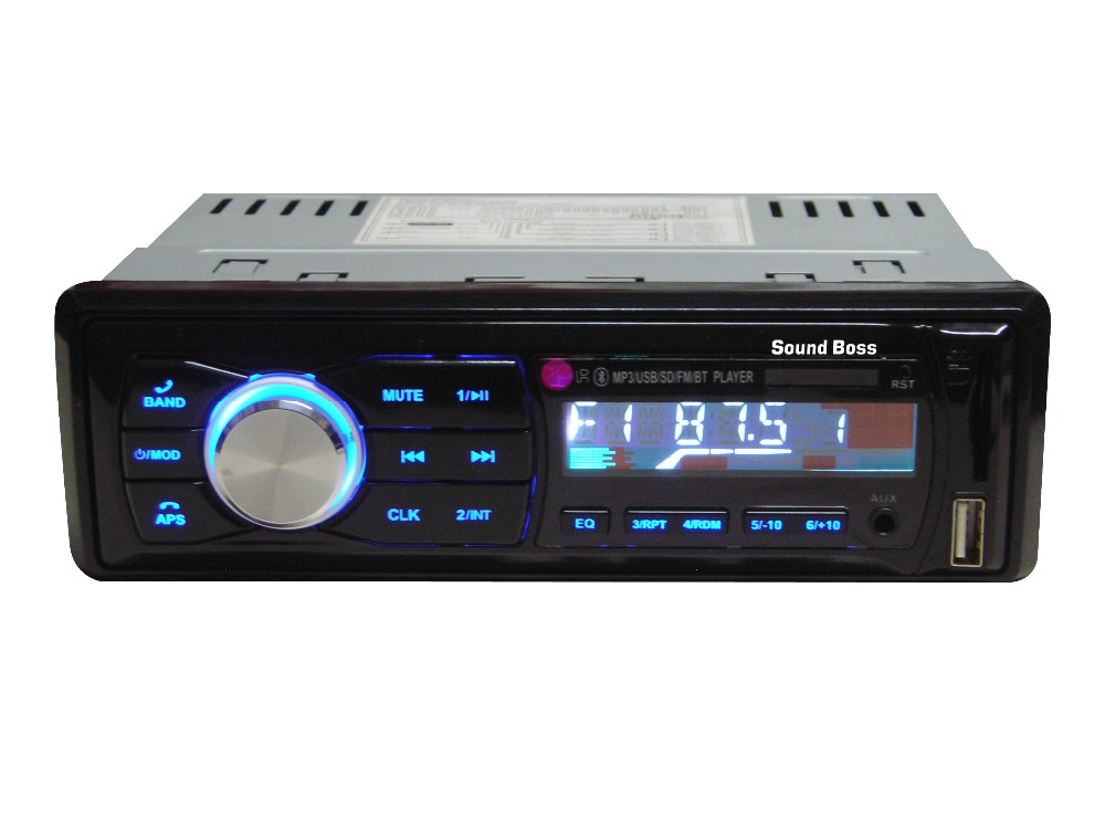 Sound Boss Sb-32 Bluetooth Wireless With Phone Caller Id Receiver Car Media Player (Single Din)