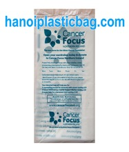 charity HDPE flat plastic bag one bag per outer bag