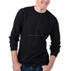 New fresh brand 100% preshrunk cotton t-shirts With long sleeves plain black