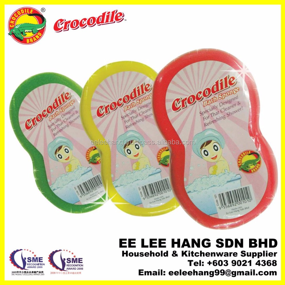 Malaysia Crocodile Brand 8-Shaped Color Bath Sponge