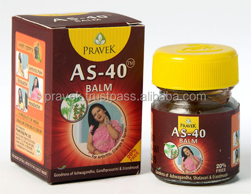 AS - 40 BALM ointment is exceptionally effective for treating and providing relief from the pain and inflammation