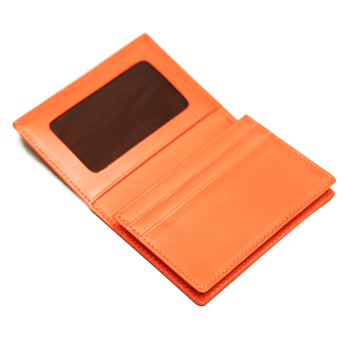 Hot selling genuine leather card case Leather business card holder wallet