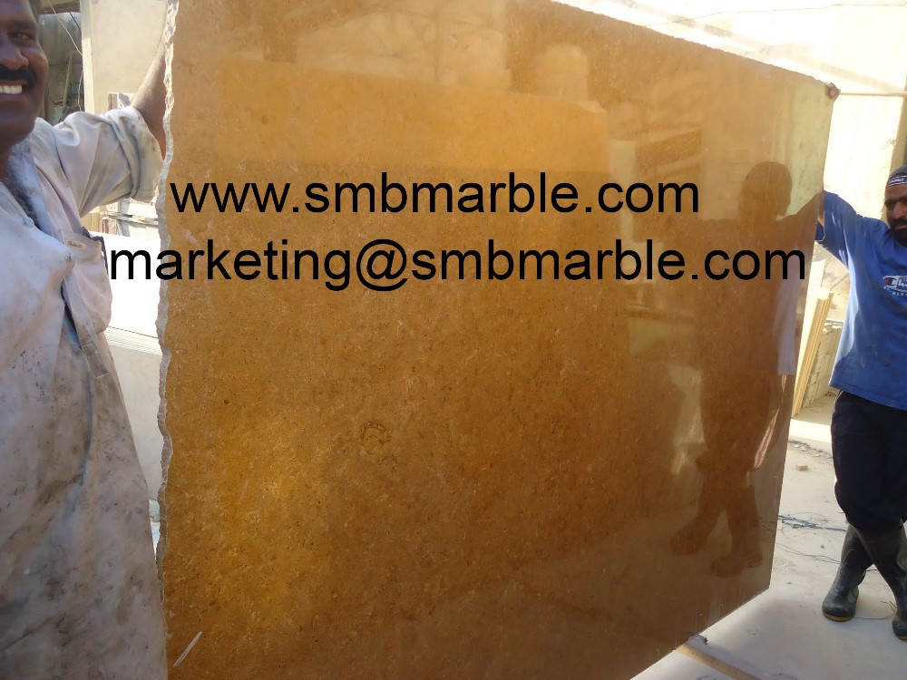 Best Quality Indus Gold Marble Tiles & Slabs Highly Polished Surface for Interior Home Designing from SMB Marble - Dubai, UAE