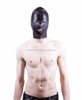 NEW 2015 BLACK BONDAGE FULL FACE MASK SOFT LEATHER MATERIAL