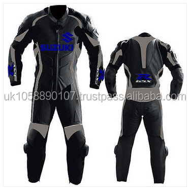 one piece Suzuki leather suit made to measure bespoke leather