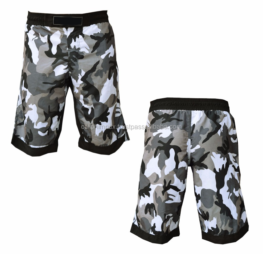 2017 Best Hot Sale Kick Boxing Short Camouflage Muay Thai Men's Fight Wear Cage
