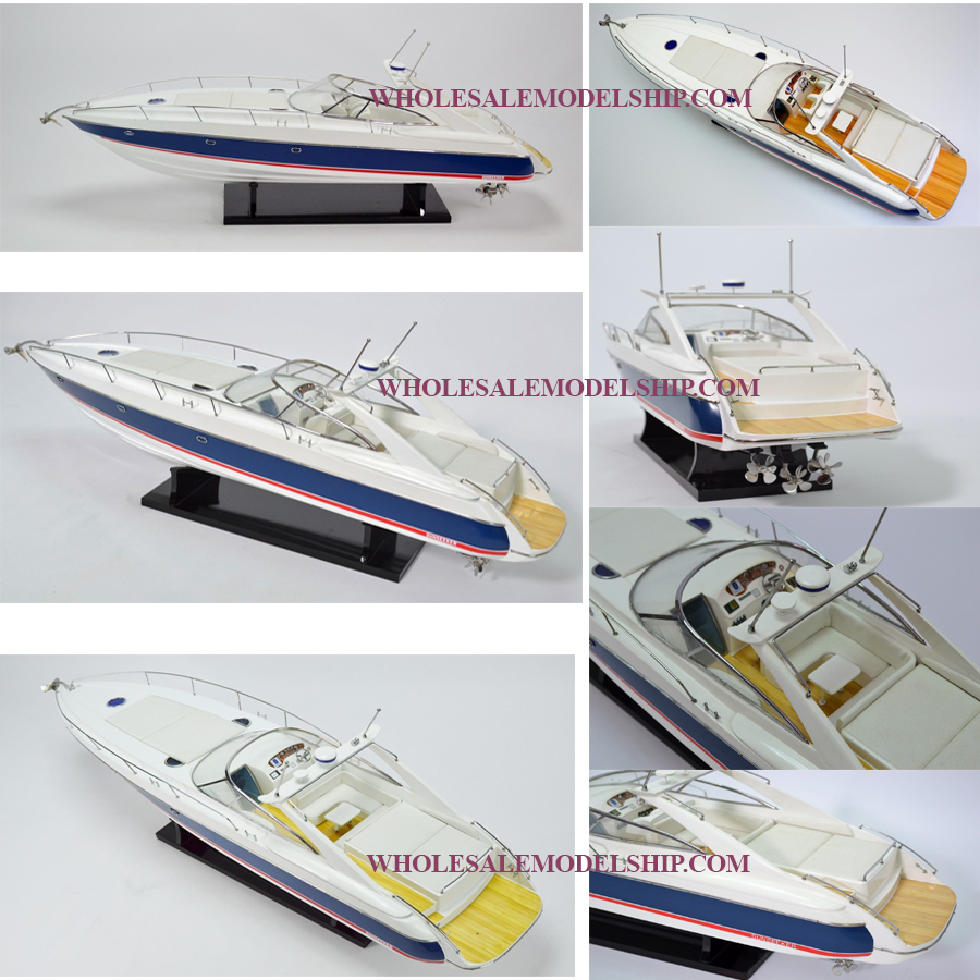 Sunseeker Superhawk 48 Wooden Speed Boat Model