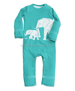 Elephant printed Infant playsuit