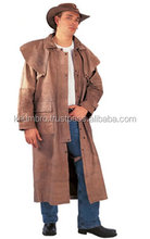 Original 100% leather overcoat/ Leather Coat / Duster coat / Fashion coats for men, women