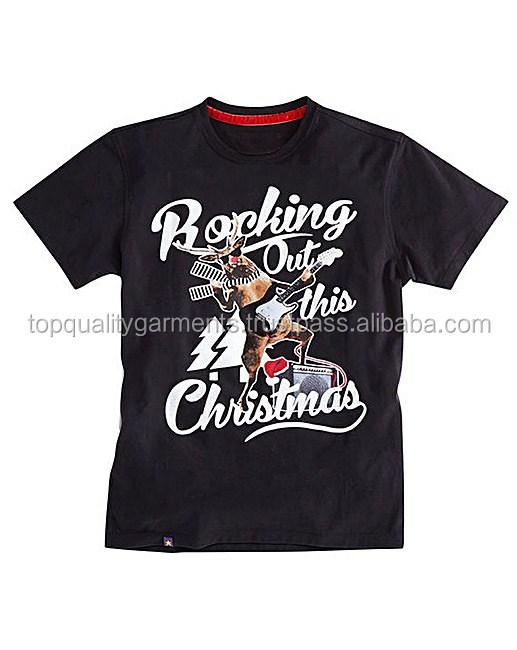 New Christmas Tee Long Men Boys Extra Large Polyester Cotton Out T-Shirt Fashion Oem Odm Customize Print