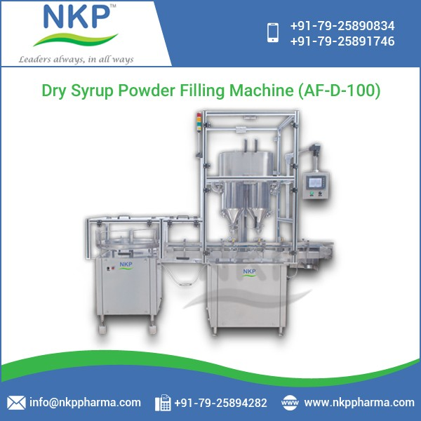 Automatic Double Head Auger Type Dry Syrup Powder Filling Machine