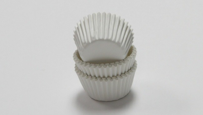 BAKING CUPS- WHITE, MINI 75CT