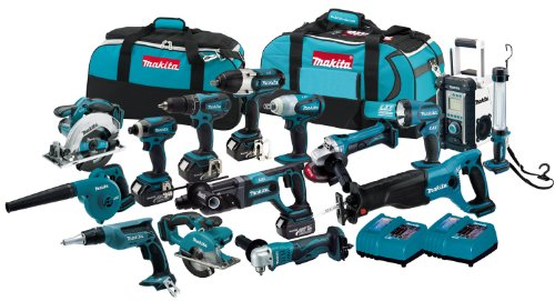 NEW Makita Cordless Tool kit 18 volt 15 pick piece Lithium Ion Combo