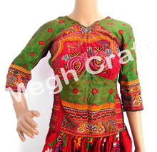 Traditional Navratri Designer Blouse -Vintage Banjara Style Mirror Work Blouse Top