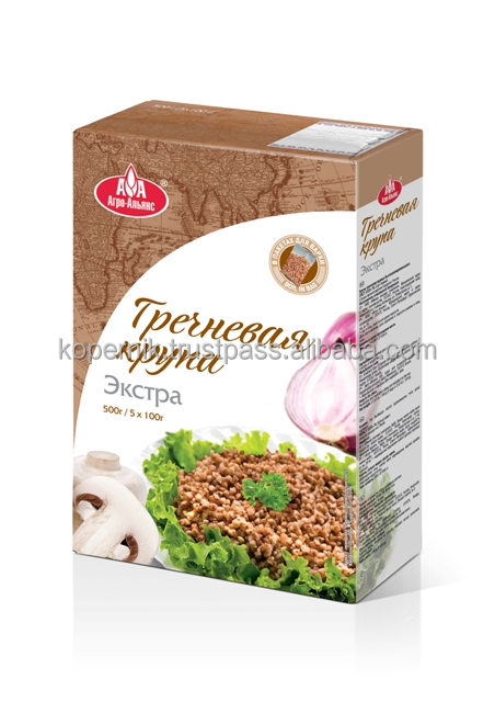 "New Premium Food Buckwheat ""Agro-Alliance Extra"" in Cooking Bags (0.1kg*5bags*12PCs)"