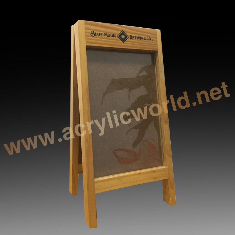 High Transactions free standing advertising A frame wood chalkboard stand sign Manufacturue supply directly