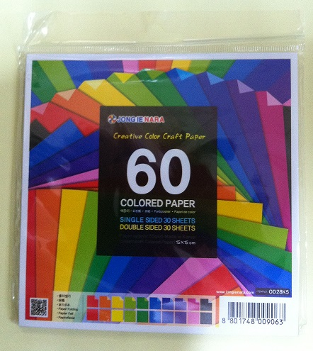 60 Sheets Single and Dualsided Colored Paper (OPP Pack) produced by Jong Ie Nara Co., Ltd.